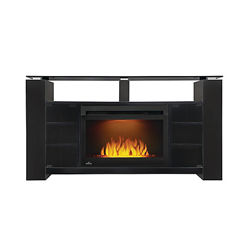 Foley Electric Fireplace TV Stand with Storage and 27-inch firebox