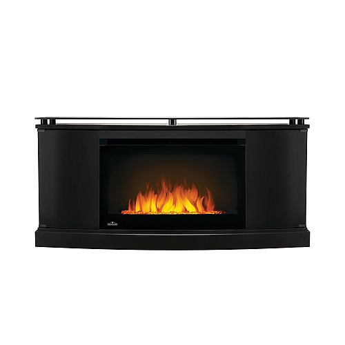 27-inch Anya Mantel Package Electric Fireplace in Black (2-Cartons)