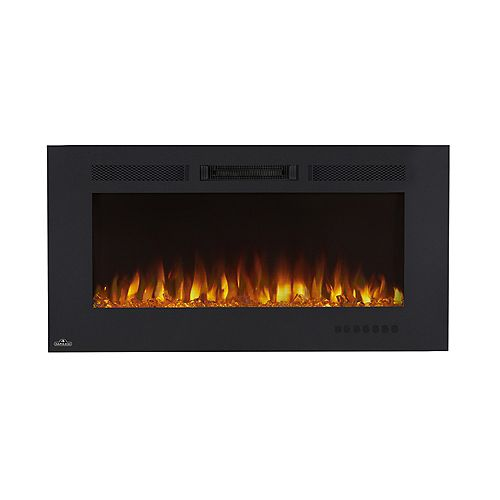 Allure Phantom 42-inch Wall Mount Electric Fireplace with Non-Reflective Mesh Screen