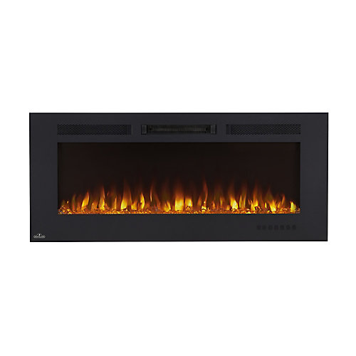 Allure Phantom 50-inch Wall Mount Electric Fireplace with Non-Reflective Mesh Screen