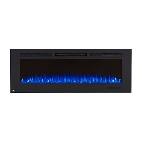 Allure Phantom 60-inch Wall Mount Electric Fireplace with Non-Reflective Mesh Screen