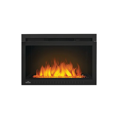 Cinema 27-inch Built-In Electric Fireplace Insert with Glass Media