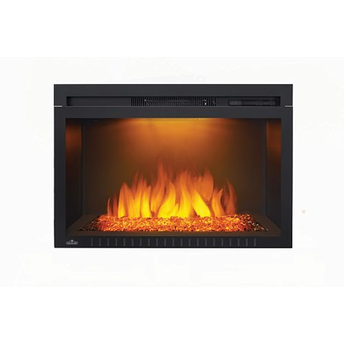 Cinema 29-inch Built-In Electric Fireplace Insert with Glass Media