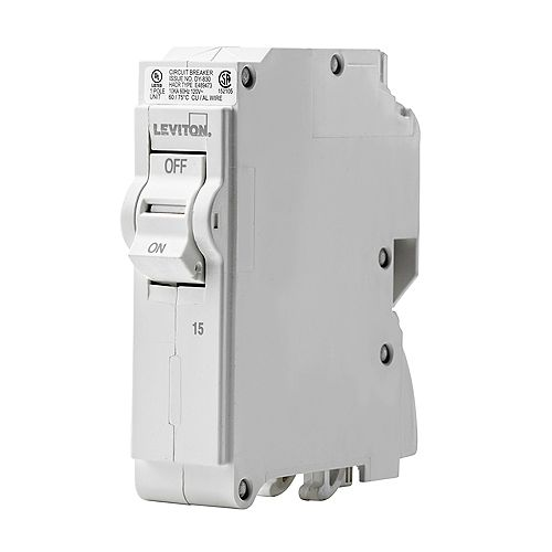 Leviton 1-Pole 15A 120V Plug-on Circuit Breaker