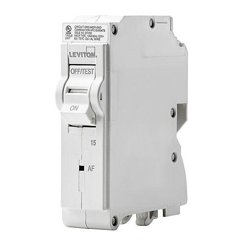1-Pole 15A 120V AFCI Plug-on Circuit Breaker