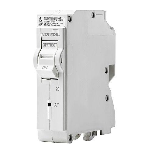 1-Pole 20A 120V AFCI Plug-on Circuit Breaker