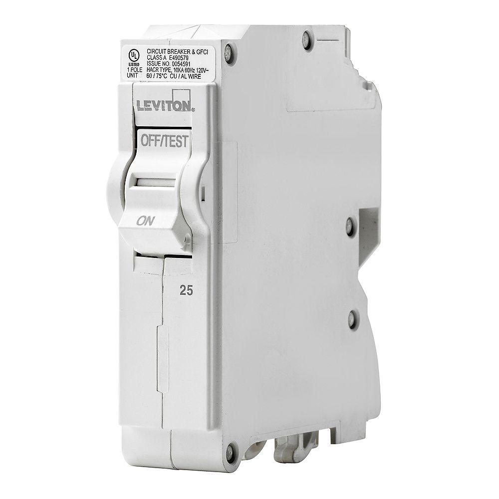Leviton 1-Pole 25A 120V Plug-on Circuit Breaker