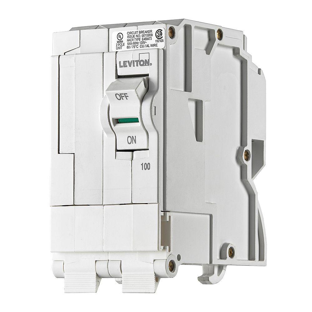 Leviton 2-Pole 100A 120/240V Plug-on Circuit Breaker