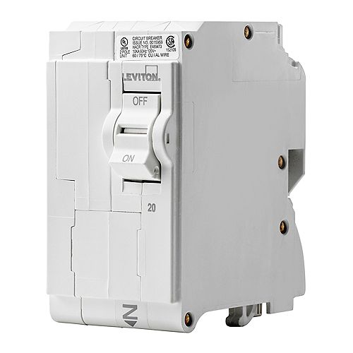 Leviton 2-Pole 20A 120/240V Plug-on Circuit Breaker