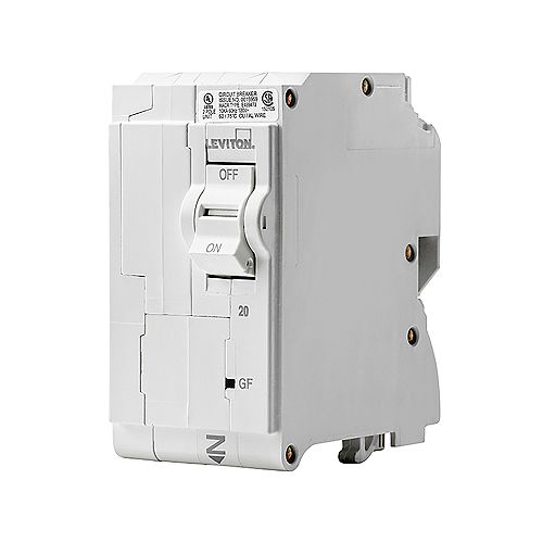 2-Pole 25A 120/240V GFCI Plug-on Circuit Breaker