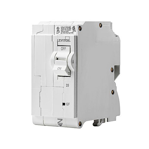 2-Pole 25A 120/240V GFPE Plug-on Circuit Breaker