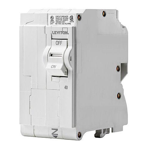 Leviton 40A 120/240V Bipolaire disjoncteur enfichable
