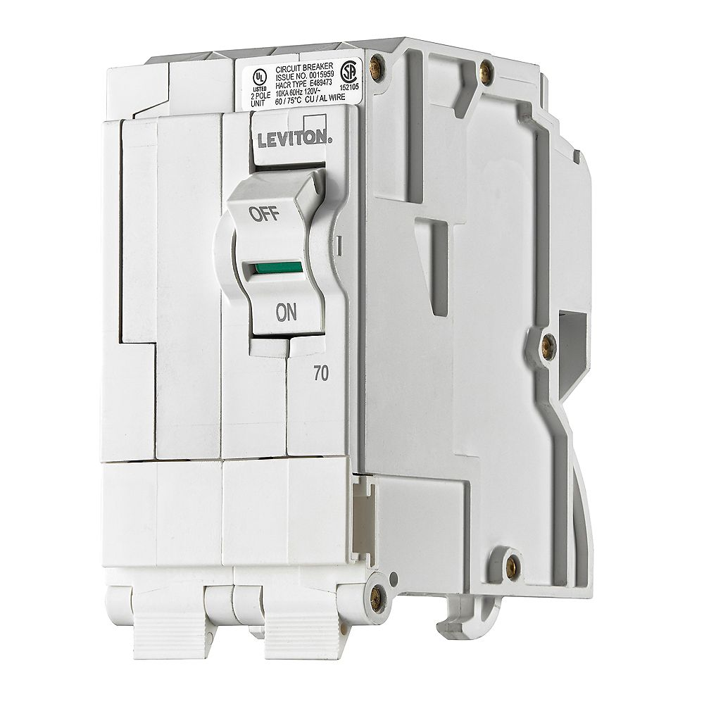 Leviton 2-Pole 70A 120/240V Plug-on Circuit Breaker