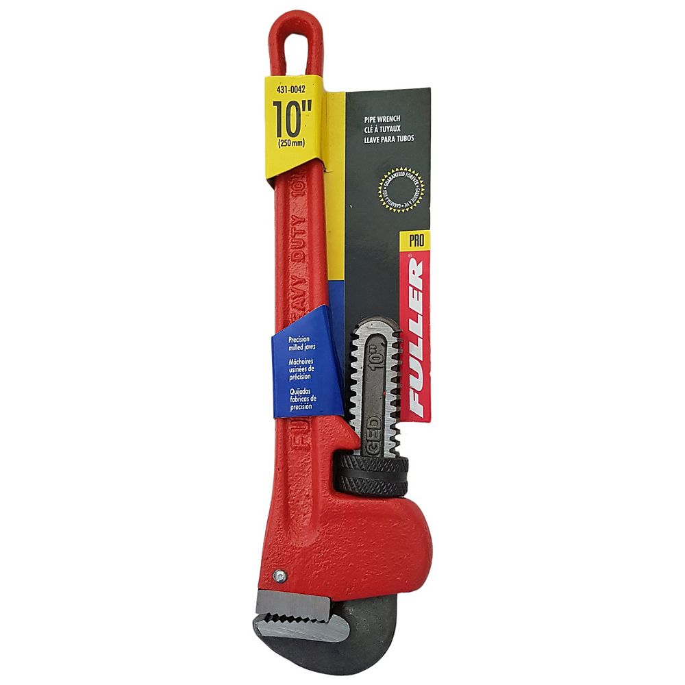 Fuller Pro Series Precision-Milled 10-inch Pipe Wrench