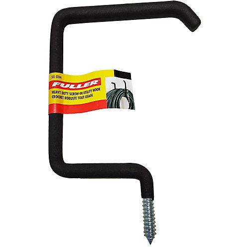 Heavy Duty Screw-In Utility Hook with Protective Foam Rubber
