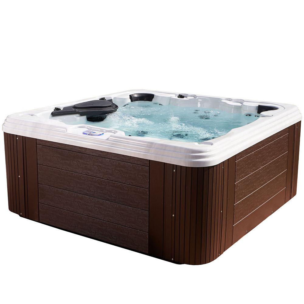 Aqualife Providence 60 Jet Espresso Acrylic Hot Tub 240 V