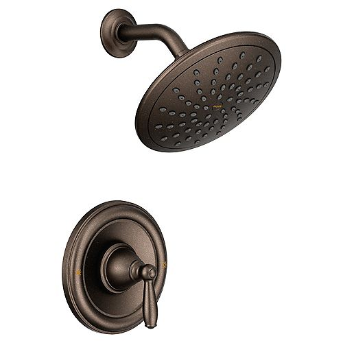 Brantford Posi-Temp Rain Shower Single-Handle Shower Only Faucet Trim Kit in Oil Rubbed Bronze (Valve Not Included)