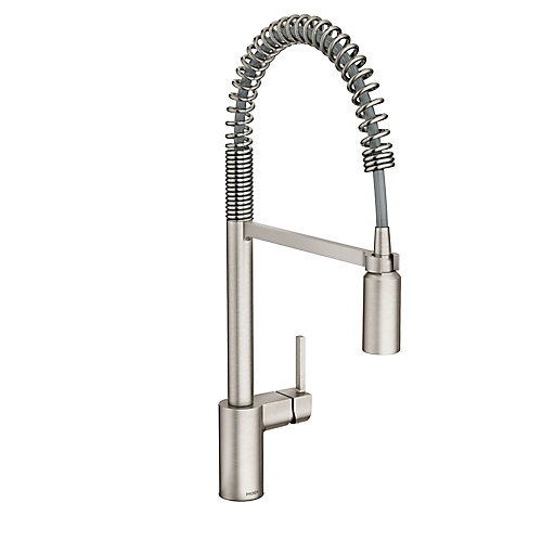 Align Spot Resist Stainless Single-Handle Pre-Rinse Spring Pulldown Kitchen Faucet