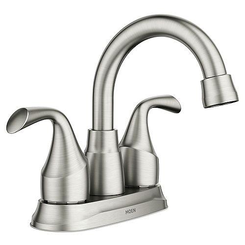 MOEN Idora 4-inch Centerset 2-Handle Bathroom Faucet in Spot Resist Brushed Nickel