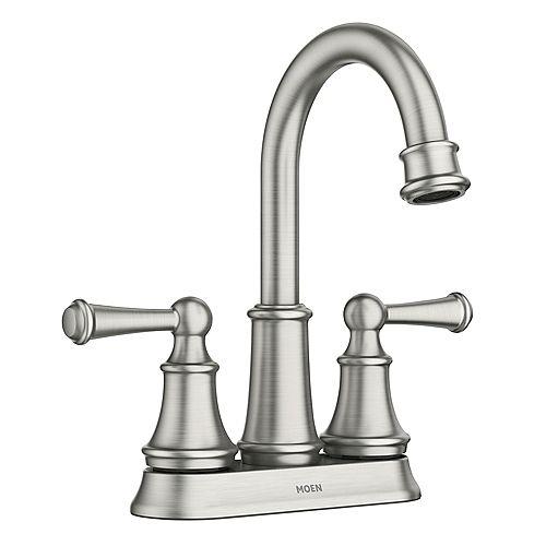 Brecklyn 4-inch Centerset 2-Handle Bathroom Faucet in Spot Resist Brushed Nickel