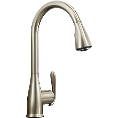 Haysfield Single-Handle Pull-down Sprayer Kitchen Faucet with Power Clean(TM) in Spot Resist Stainless