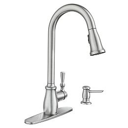 Fieldstone Single-Handle Pull-Down Sprayer Kitchen Faucet with Reflex and Power Clean in Spot Resist Stainless