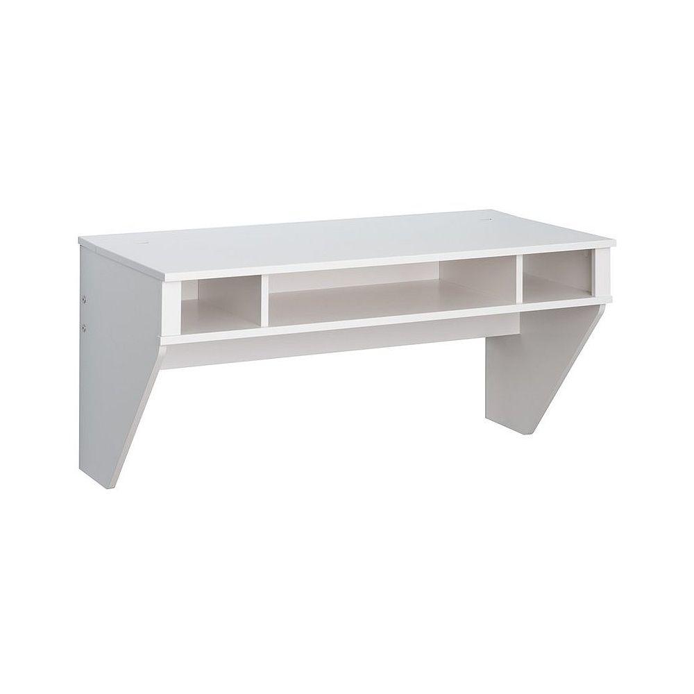 TygerClaw Stylish Designer Floating Desk-White