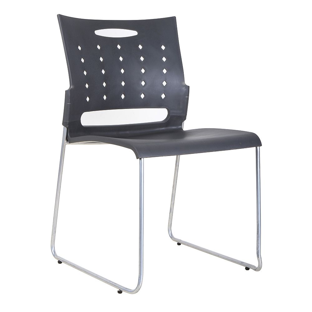 TygerClaw Mid Back Plastic Chair (4-Pack)