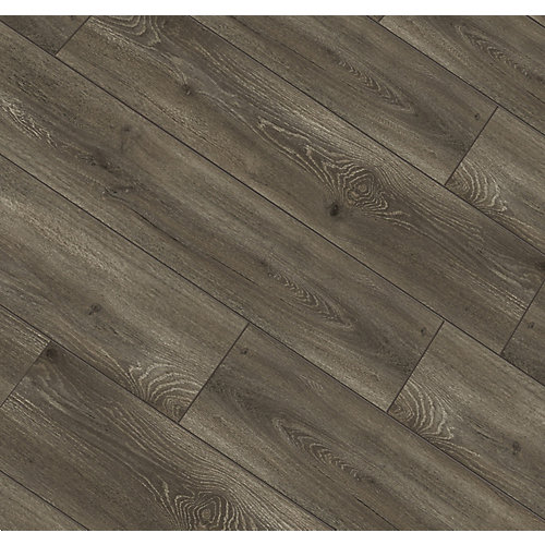 Aged Gunmetal Oak 12 mm Thick x8.03-inch Wide x47.61-inch Long Laminate Flooring(15.94 sq.ft./case)