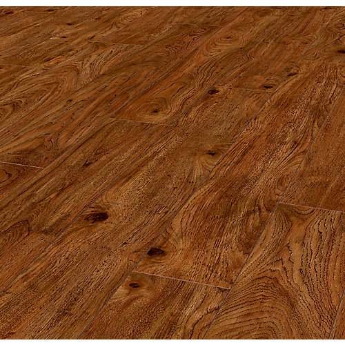 Warm Cinnamon Hickory 12mm Thick x6.1-inch Wide x47.61-inch Long Laminate Flooring(14.13sq.ft./case)