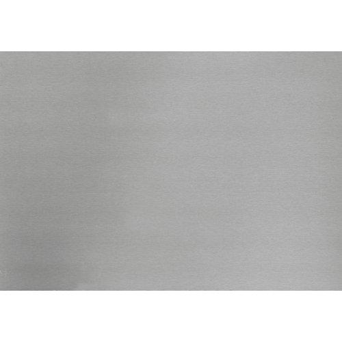 340-8045 Home Decor Self Adhesive Film 26-inch x 59-inch Metallic Brush Silver