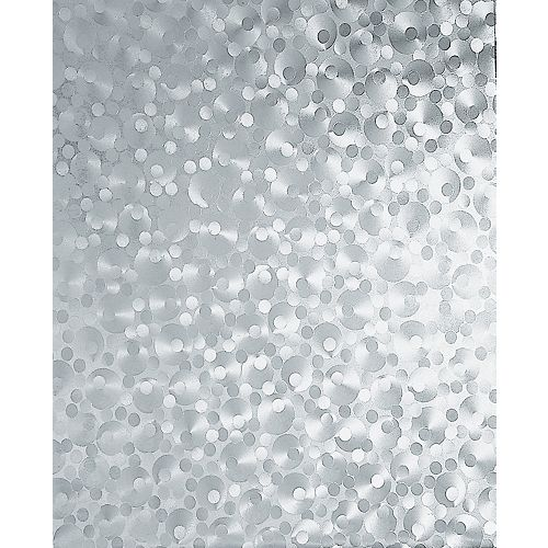 346-0276 Home Decor Self Adhesive Window Film 17-inch x 78-inch Pearl - (2-Pack)