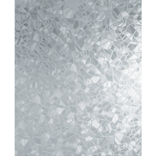 346-0166 Home Decor Self Adhesive Window Film 17-inch x 78-inch Splinter - (2-Pack)