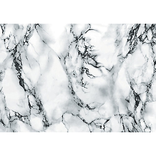 346-8031 Home Decor Self Adhesive Film 26-inch x 78-inch Marble White