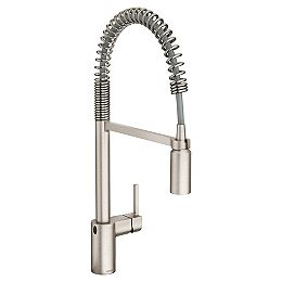 Align Touchless 1-Handle Pull-Down Sprayer Kitchen Faucet, MotionSense Wave and Spring Spout in Spot Resist Stainless