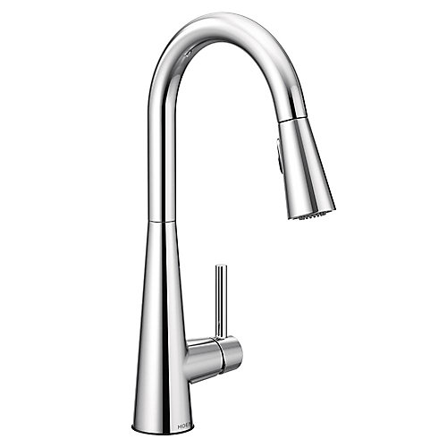 Sleek Single-Handle Pull-Down Sprayer Kitchen Faucet With Reflex And Power Clean In Chrome