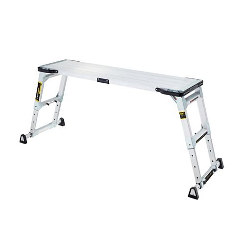 PRO Slim-Fold 55-inch x 14-inch Adjustable Height Aluminum Work Platform