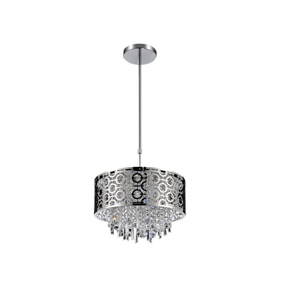CWI Lighting Galant 12 inch 3 Light Mini Pendant with Chrome Finish