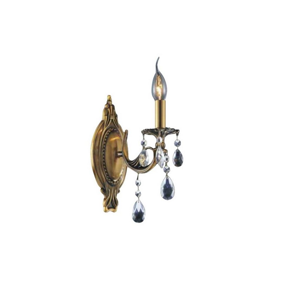 CWI Lighting Brass 8 inch 1 Light Wall Sconce with French Gold Finish