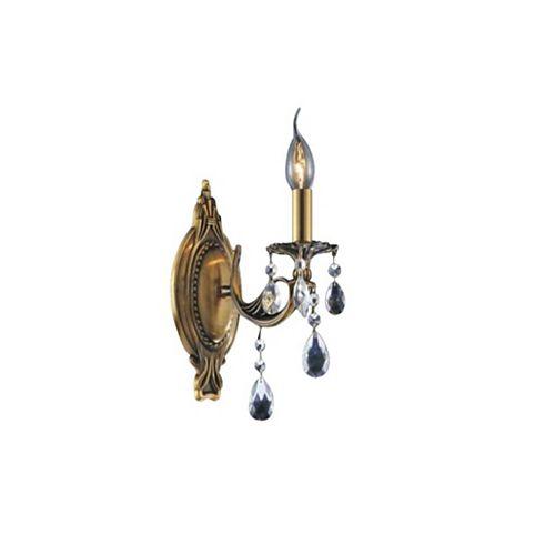 8 pouce Brass 1 Lumière Applique murale avec Fini Or français