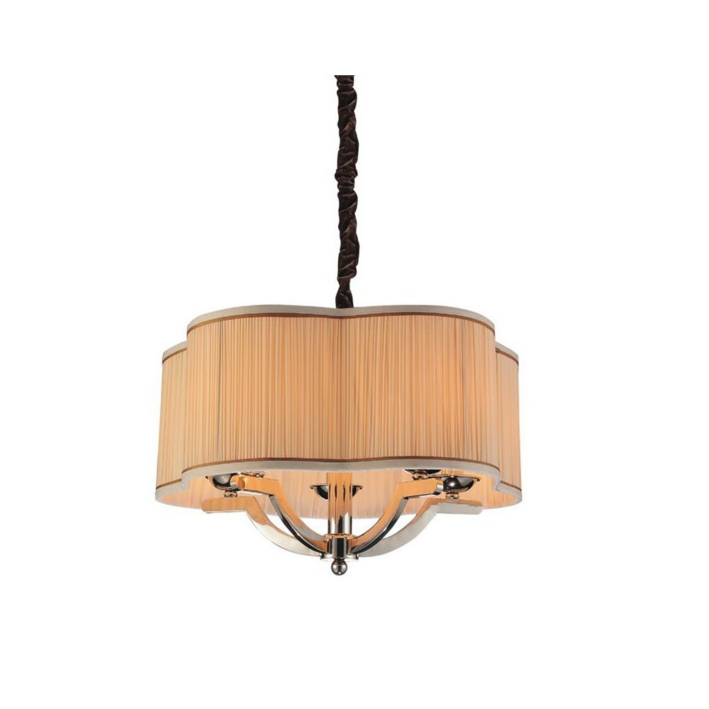 CWI Lighting Serta 20-inch 5-Light Chandeliers with Chrome Finish