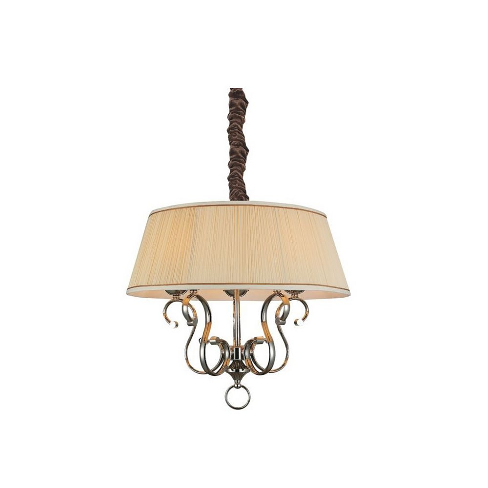 CWI Lighting Biscuit 24 inch 5 Light Chandeliers with Chrome Finish