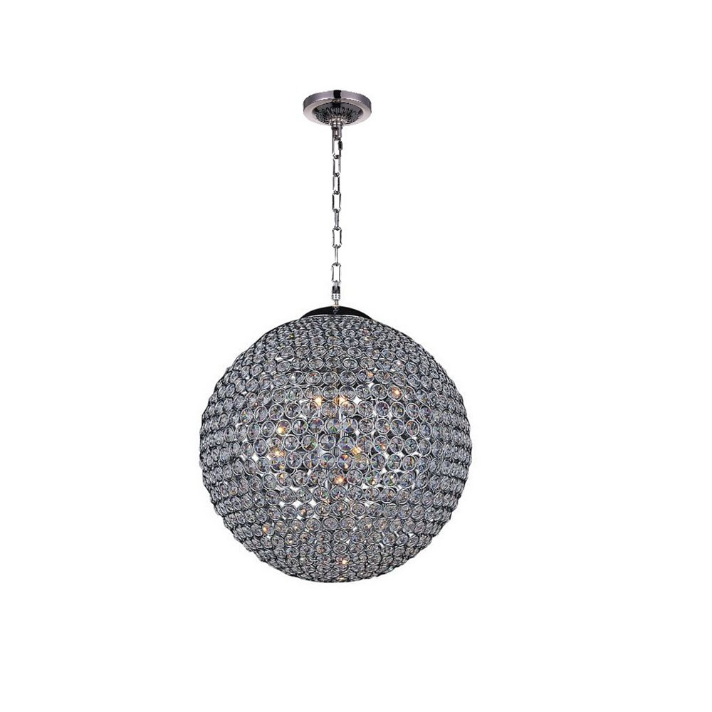 CWI Lighting Globe 16 inch 6 Light Chandelier with Chrome Finish