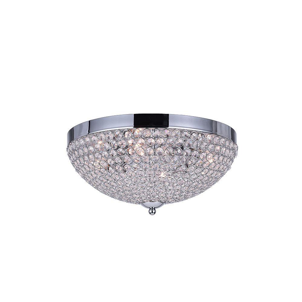 CWI Lighting Globe 16 inch 4 Light Flush Mount with Chrome Finish
