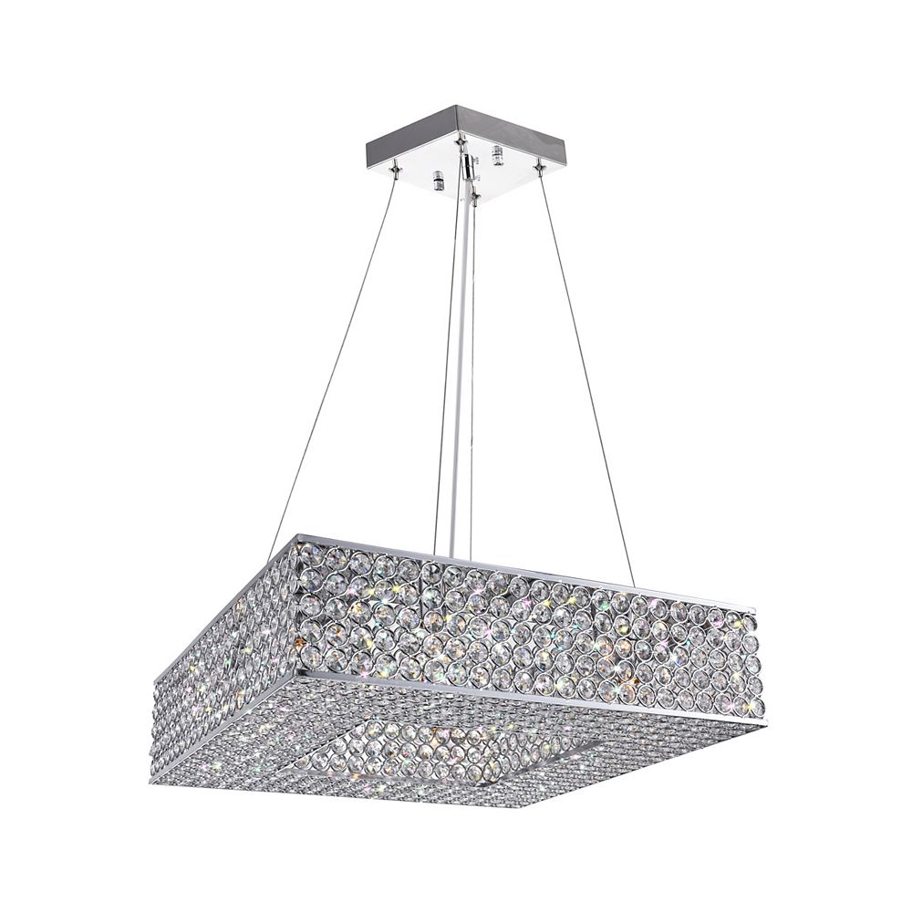 CWI Lighting Dannie 17.5 inch 8 Light Chandelier with Chrome Finish