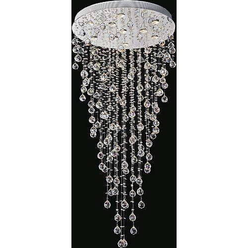 CWI Lighting 28 pouce Rain Drop 10 Lumière Plafonnier avec Fini chromé
