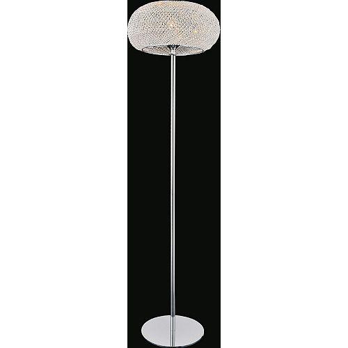 16 pouce Tiffany 1 Lumière Lampadaire avec Fini chromé
