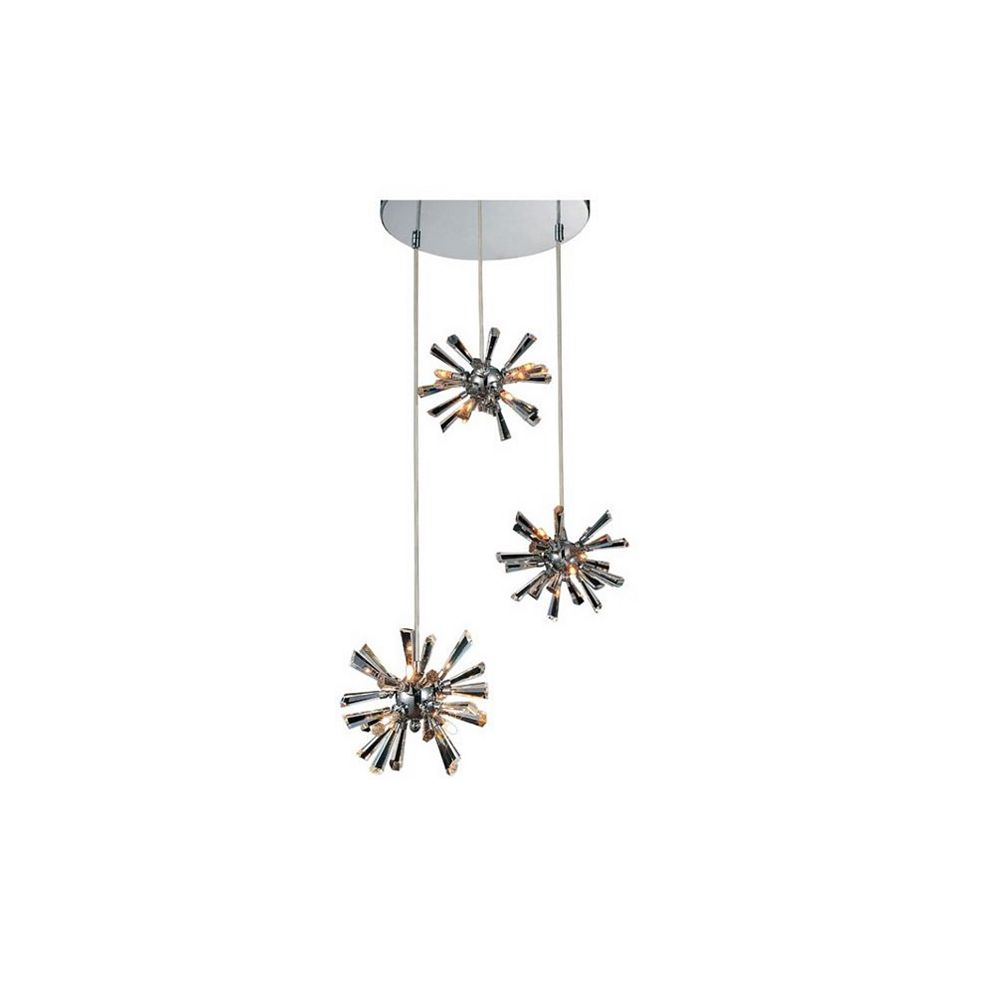 CWI Lighting Flair 15 inch 12 Light Chandelier with Chrome Finish