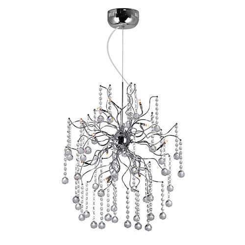 CWI Lighting Cherry Blossom 20 inch 15 Light Chandelier with Chrome Finish