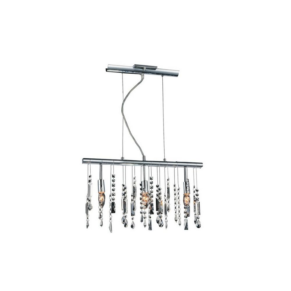CWI Lighting Janine 22 inch 3 Light Chandelier with Chrome Finish